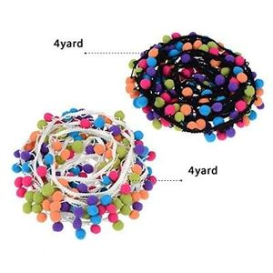 Pangda 8 Yards Pom Pom Trim Fringe