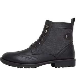 Firetrap Mens Tempo Worker Boots Black