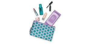 FREE CLINIQUE Gift Set with lipstick, mascara, make up etc