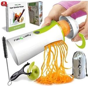 Premium Vegetable Spiralizer Veggetti Spiral Slicer COMPLETE BUNDLE x4