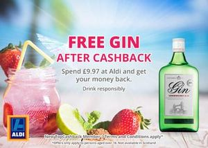 Free Gin after cashback