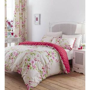 Catherine Lansfield Canterbury Bedding Set Red