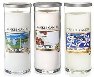 Yankee Candle Pure Essence Set Of 3 Fresh Large Jar Pillars