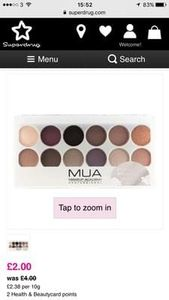 Mua eyeshadow palette- romance