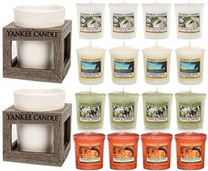 Yankee Candle 16 Piece Rustic Votive Holders Gift Set