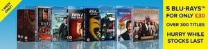5 blu rays for £30