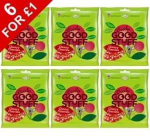6 x Goody Good Stuff Sour Cheery Cherries 25g