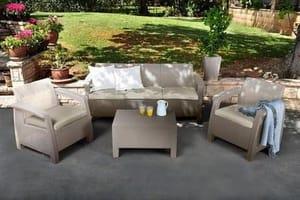 Keter Corfu Outdoor 5-Seater Garden Lounge Set Save £120