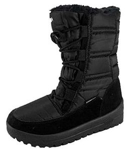 Iceberg Ladies Faux Fur Lined Padded Winter Boots in black