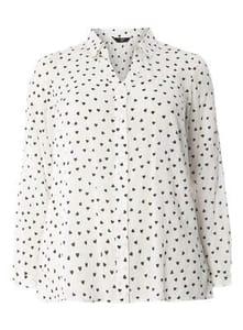 Ivory Heart Print Shirt