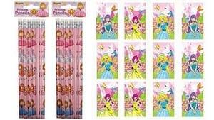 12 X Princess Notebooks & Princess Pencils