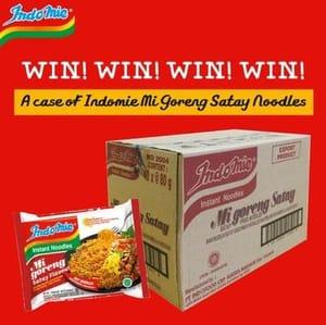 Win A Case Of Indomie Mi Goreng Satay Noodles