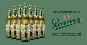 Fancy winning a years supply of Staropramen beer?