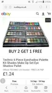 3 for 2 cosmetics on ebay