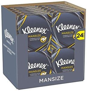 Kleenex Mansize Tissues, Compact - Pack of 24 (1056 Tissues Total)
