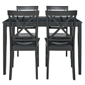 home jessie dining table 4 solid wood chairs black 89 99 at