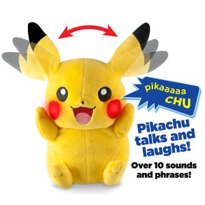 SAVE £7. Pokemon My Friend Pikachu Feature Plush Toy with Lights & Sounds