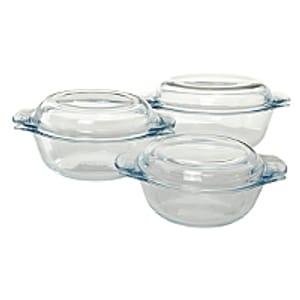 Pyrex Essentials 3 Piece Glass Casserole Set Save £6 Free C&C