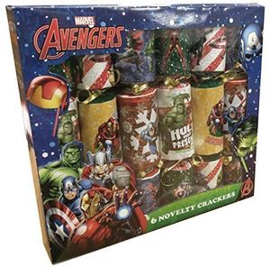 box of 6 novelty 12 marvel avengers christmas crackers