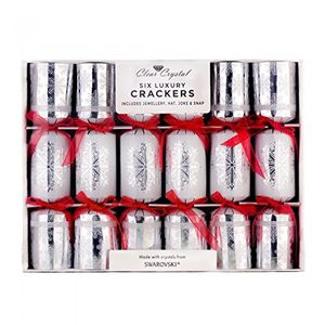 clear crystal 6 luxury swarovski christmas crackers