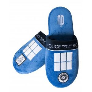 Doctor Who Tardis Mule Slippers Large