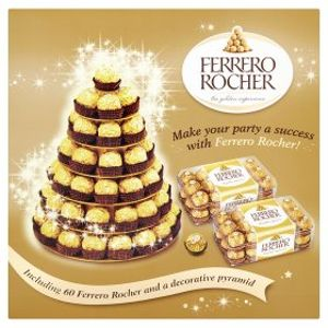 Ferrero Rocher and a Decorative Pyramid 60 Pieces Free C&C