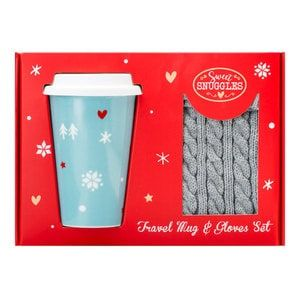 Superdrug Sweet Snuggles Travel Mugand Fingerless Gloves