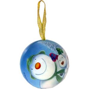 Snowman Xmas jelly bean Bauble