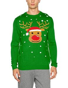 The Christmas Workshop Men's Christmas Reindeer Jumper