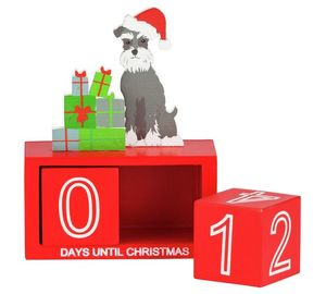 bertie wooden christmas countdown decoration