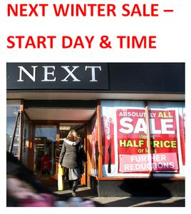 When Does NEXT Winter Sale 2017 Start Online? Not Boxing Day! What Day & Time?