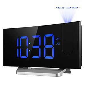 Projection Alarm Clock, [Updated Version]Mpow Digital Bedside Ceiling Clock