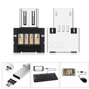 Metal Micro USB Male to USB Male OTG Adapter Converter free del