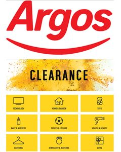 Argos ONLINE CLEARANCE on Now