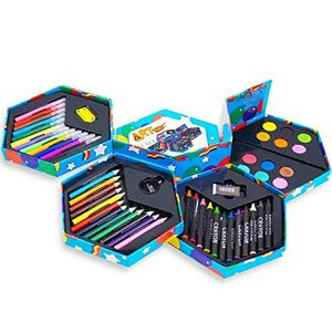 Kandy Childrens 52 Pcs Craft Art Set Hexagonal Box