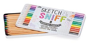 12 Assorted Colours Sketch & Sniff Pencils