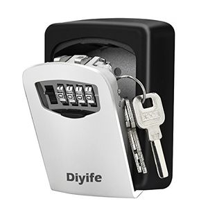 Key Lock Box, [Wall Mounted]Diyife Combination Key Safe Storage