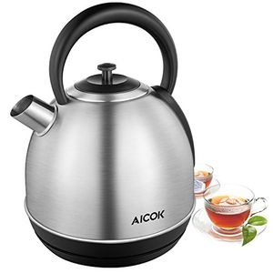 Retro Stainless Steel Kettle 3000W Fast Boil Removable Filter,Auto Shut Off