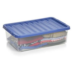 Wilko Underbed Box Blue 32L