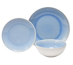 Sainsbury's Home Shore Crackle 12 Piece Dinner Set - Blue