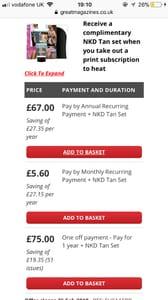 Heat Magazine Monthly Subscription + FREE NKD Tan Set worth £39