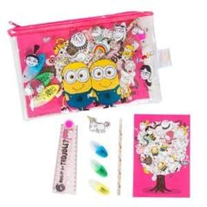 Despicable Me Pink Filled Pencil Case