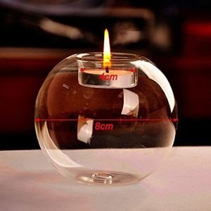 1Pc Glass Candle Holder