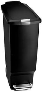 Simplehuman Slim Pedal Bin - 40 L, Black