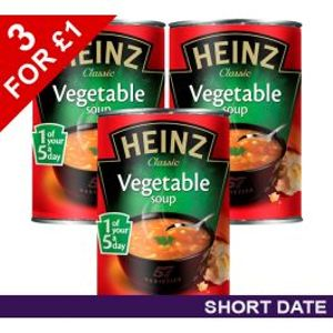 3 X Heinz Vegetable Soup 400g