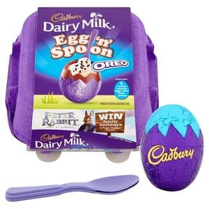 Cadbury Dairy Milk Egg And Spoon Oreo 136g 163 1 At Tesco Latestdeals Co Uk