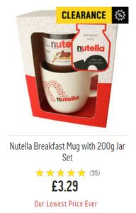 Nutella Breakfast Mug with 200g Jar Set. ARGOS LOWEST PRICE EVER DEAL