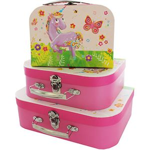 JoJos Unicorn Storage Suitcases - Set of 3
