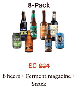 Free Pack of 8 Craft Beers, Snack & Magazine worth £24 (£5.95 P&P)