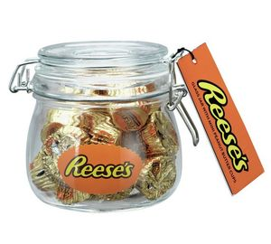 Reese's Glass Jar with Mini Peanut Butter Cups